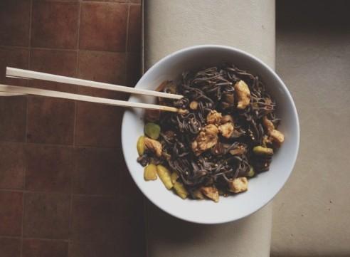 wok curry lait de coco poulet