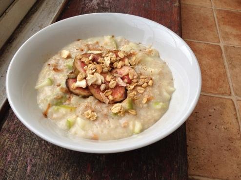 porridge pommes figues avoine