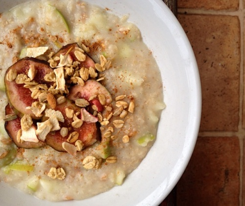 porridge pommes figues petit dejeuner