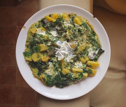 frittata chèvre épinards thefitnesstheory cuites fromage