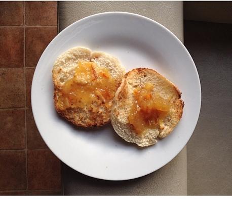 Marmelade d'orange sans sucre ajouté, pour ceux là.